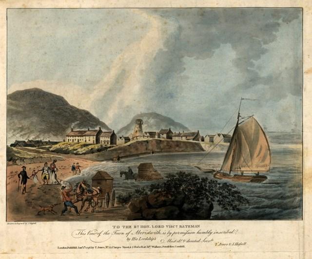 Aberystwyth gyda melin wynt